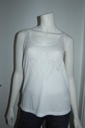 Haut évasé en bas blanc tissu mixte
