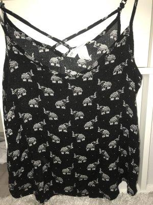 H&M Shirt met print zwart-wit