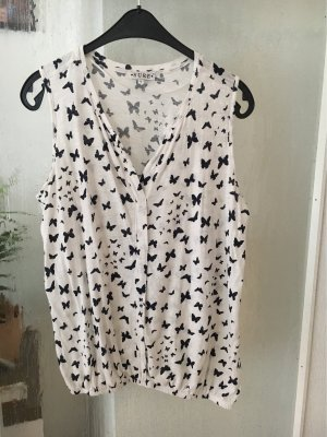 Sure Blouse topje wit-donkerblauw