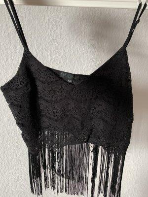 Bershka Cropped Top black