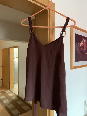 Primark Spaghetti Strap Top brown red