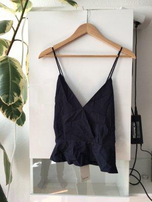 Zara Basic Rugloze top donkerblauw