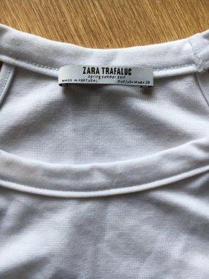 Zara Top estilo halter blanco