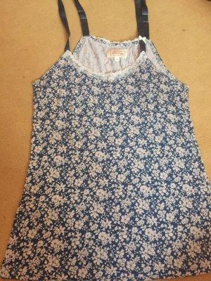 Avoca T-shirt wolwit-blauw