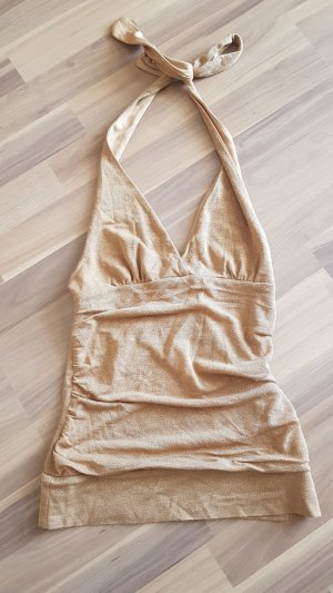 H&M Rugloze top goud