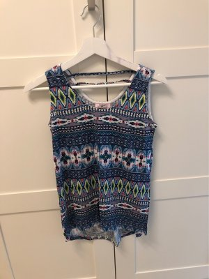 Backless Top multicolored