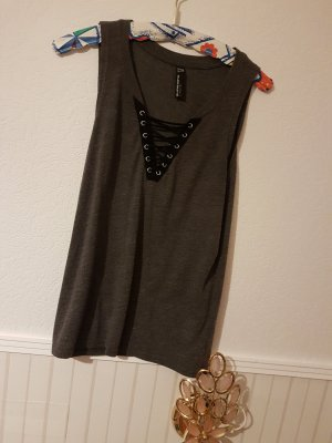 Blind Date A Line Top grey