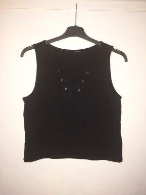 Zara Top noir coton