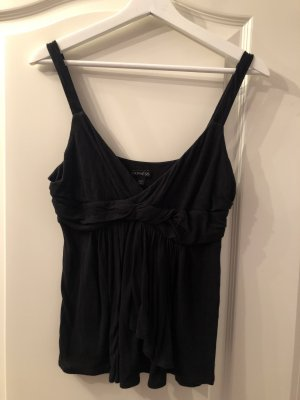 Express Top de corte imperio negro