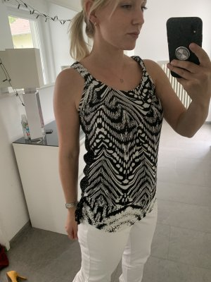 Backless Top white-black