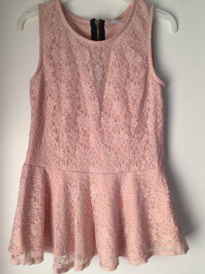 Vero Moda Peplum top stoffig roze