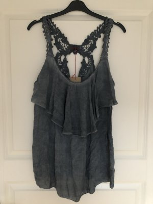 Pink Cherry Strappy Top slate-gray
