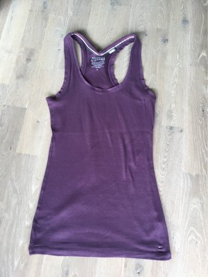 Tommy Hilfiger Denim Bustier Top grey lilac cotton