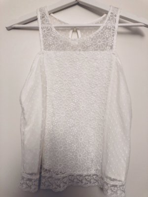 Abercrombie & Fitch Lace Top white