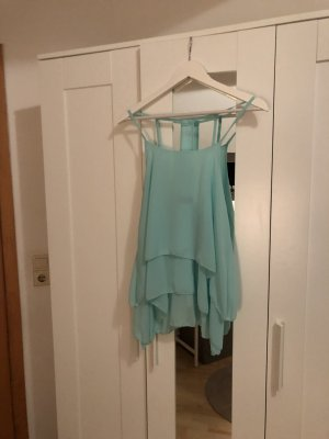 Flounce Top turquoise