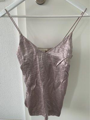 H&M Top de tirantes finos color plata