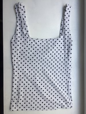 Bershka Basic topje wit-zwart