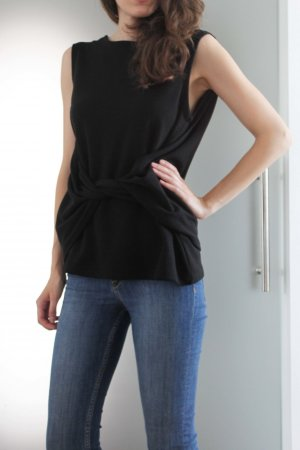 H&M Basic Top black polyester