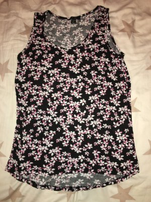 Top Amisu schwarz, weiß, pink in Größe M