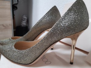 Jimmy Choo Pointed Toe Pumps gold-colored