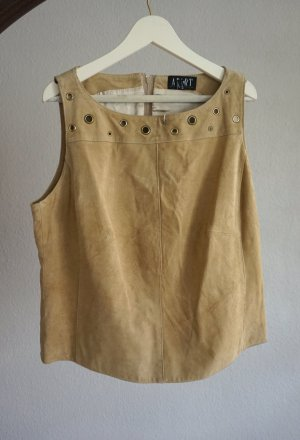 Apart Tank Top beige-brown leather