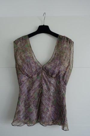 Diane von Furstenberg Zijden top lila-paars