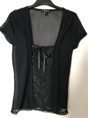Bandolera Lace Top black