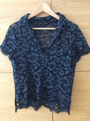 Zara Lace Top petrol