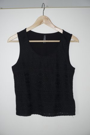 Takko Knitted Top black cotton