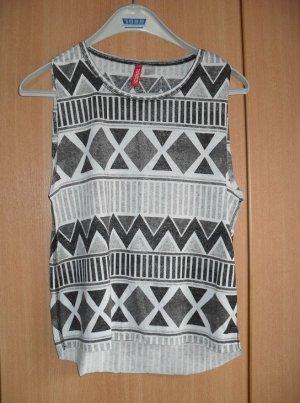 Top Aztek Muster schwarz weiß zick zack Shirt s 36