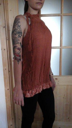Italia Moda Off the shoulder top donker oranje