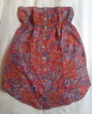 Top, Babydoll, kaum getragen, geblümtes Muster mit Knöpfen und Taschen