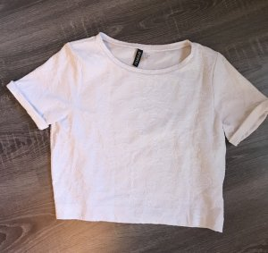 H&M T-shirt court blanc