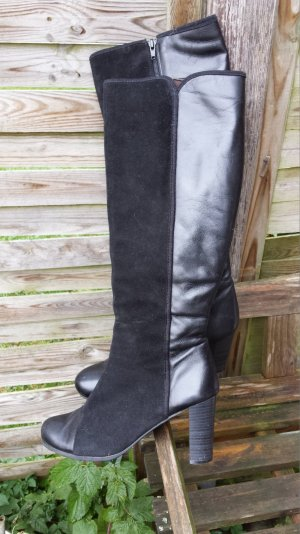BC Heel Boots black leather