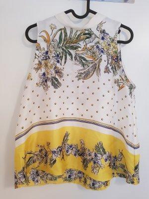 Zara A-lijn top wolwit-geel
