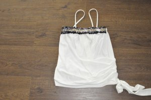 top bebe paris weiss pailletten gr. s 36