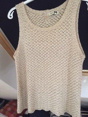 Joy Crochet Top beige