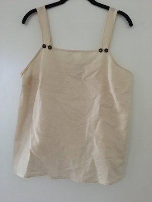 Top beige aus Baumwolle/Leinen