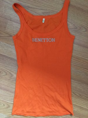 Benetton Camisa deportiva naranja
