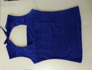Top blau ärmellos Gr. S 34 36