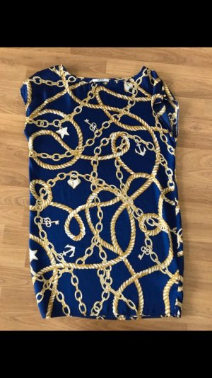 Top blau Gold Hermes Look XL