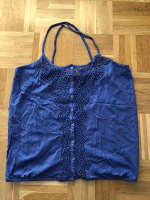 Top, blau, H&M Garden, Gr. M, Spitze