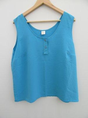 Vintage Basic topje lichtblauw-neon blauw