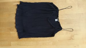 Top Bluse fallend dunkelblau schwarz