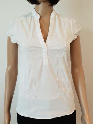 Zara Blouse met opstaande kraag wit
