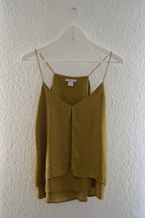 Top / Bluse in Senfgrün /Olivgrün von H&M