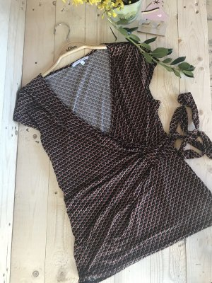 Wraparound Blouse brown-sand brown