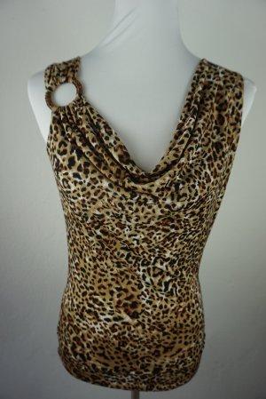 Top Bluse mit leopard Print