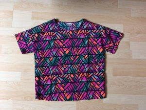 Top/Bluse multiculor Größe S Noisy May NMJUNGLE - Bluse - purple cactus