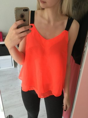 Top Bluse Only neonorange
